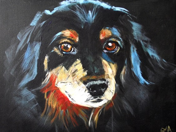 Dog in acrylic